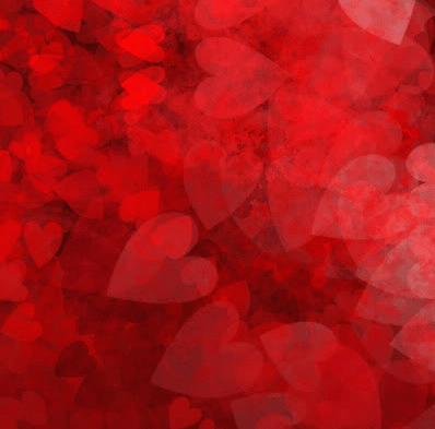 Cute Twitter background red hearts