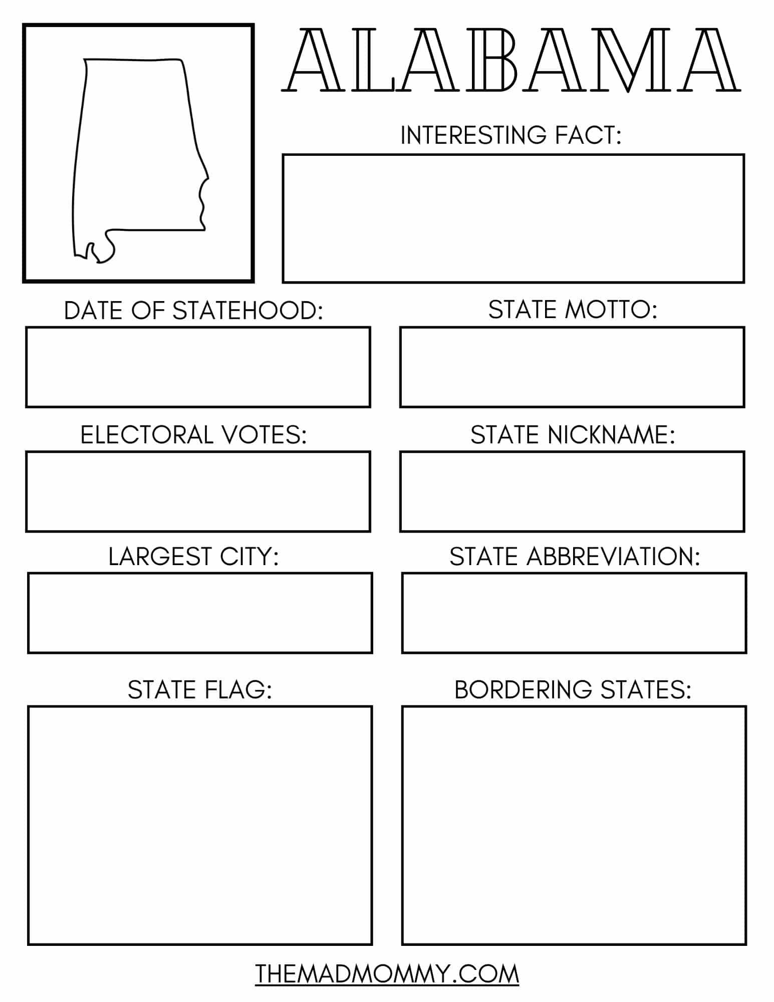 hight resolution of 15 Facts About Alabama + Free Printable State Workbook - Sadie Smiley -