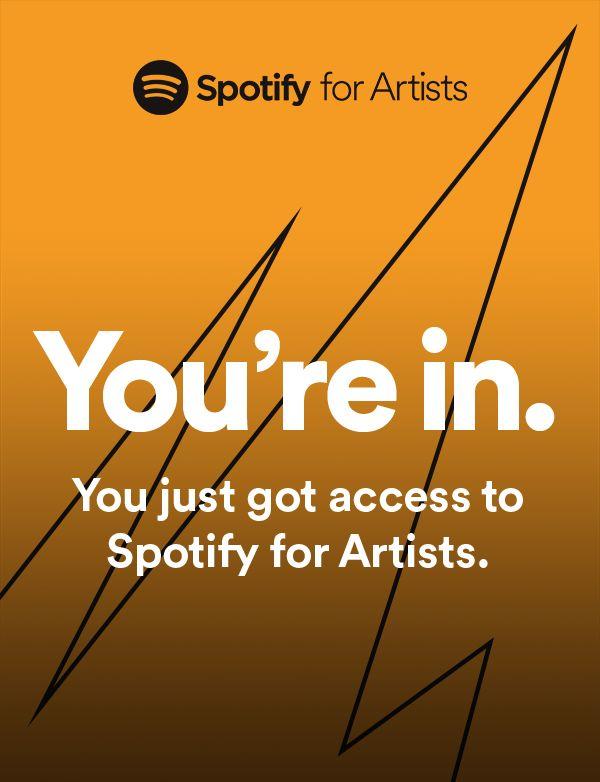 Доступ к Spotify for Artists