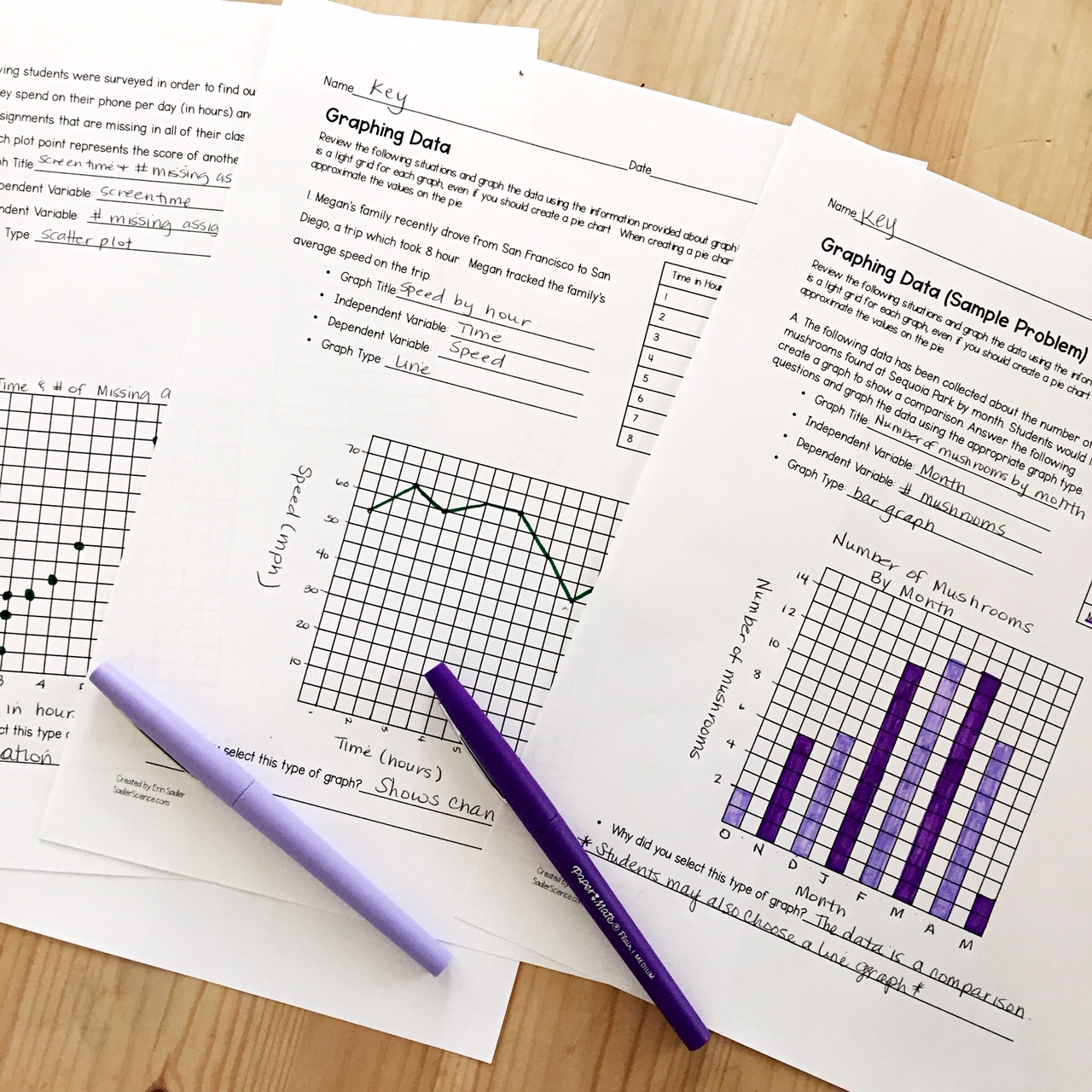 Graphing Data in an NGSS Classroom • Sadler Science [ 1280 x 1280 Pixel ]