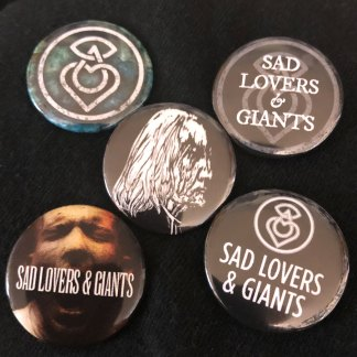 Sad Lovers & Giants Button Badges