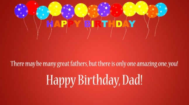 Happy Birthday Status For Dad