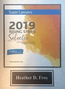 Heather Froy Super Lawyer Award 2019