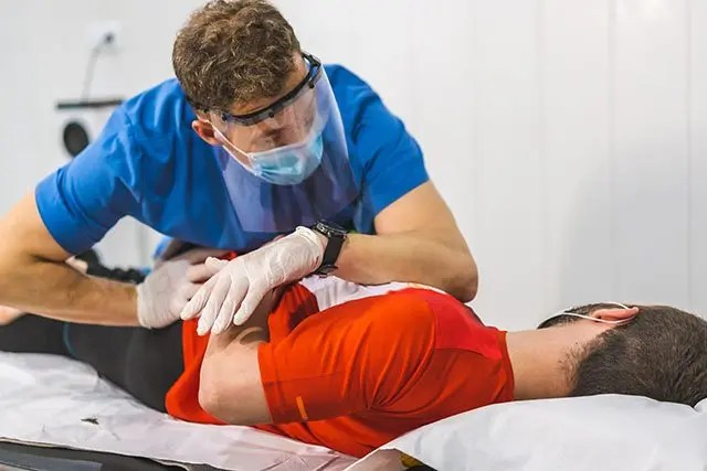 hip injury workers comp