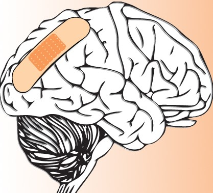 bandaid on brain work-related injury