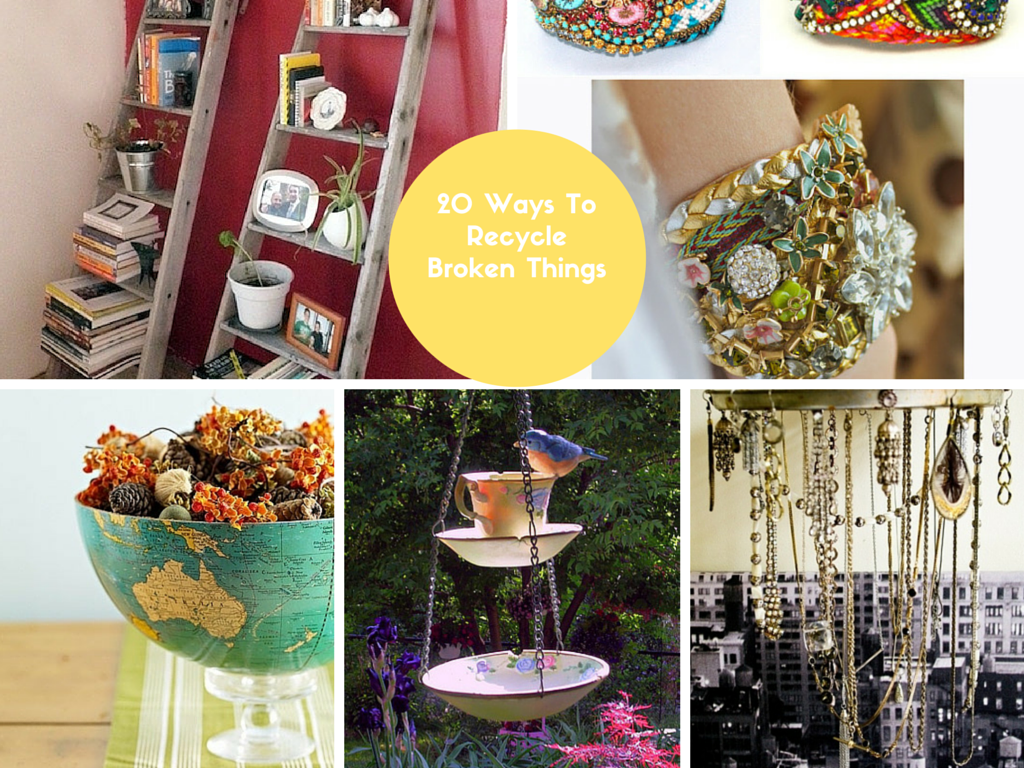 20 DIY Ways How To Recycle Broken Things Into Crafts