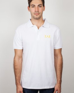 SAE Clothes White Polo Shirt