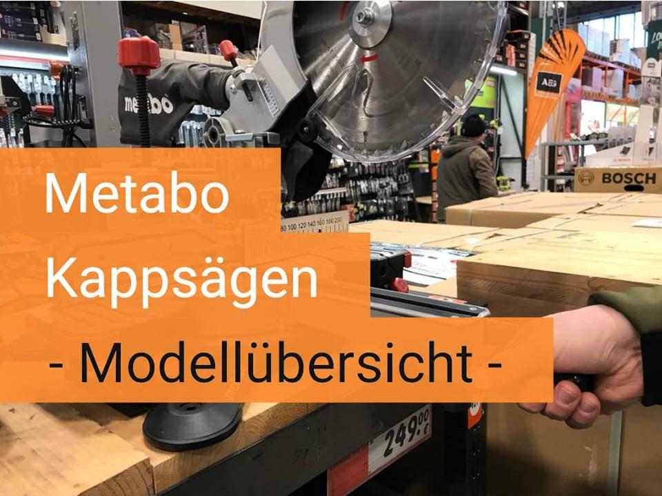 Metabo Kappsägen Modellübersicht auf saegehandbuch.de