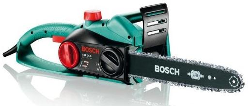 Kleine Mini Bosch Kettensäge AKE 35 S für Baumpflege
