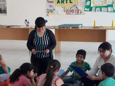 Se realizó una jornada de lectura y juegos recreativos  en el NIDO del barrio Milenium