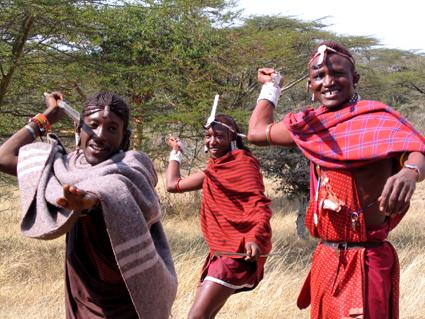 Guerreros Masai. Kenya. Agosto de2004