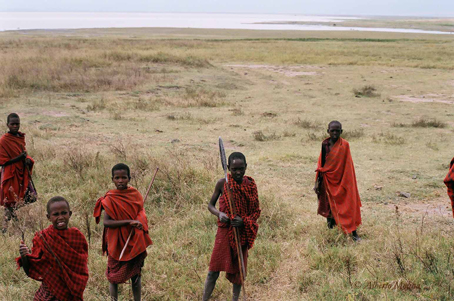 Masais en el Ngorongoro