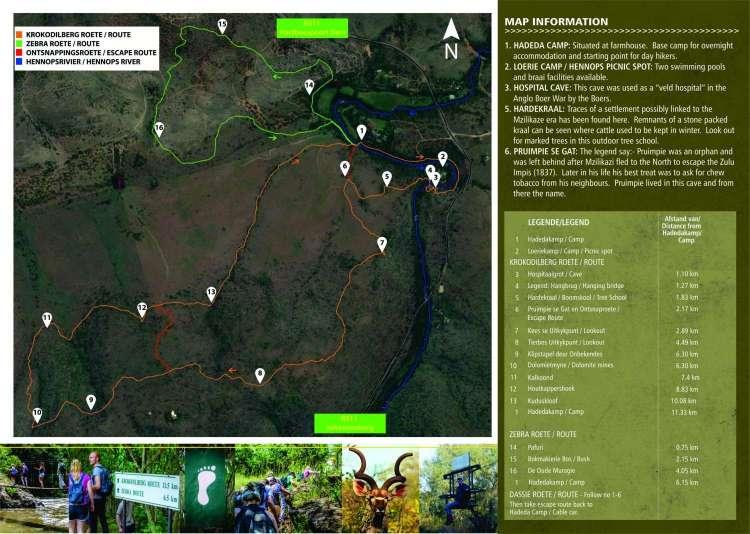Krokodilberg Wanderung Karte
