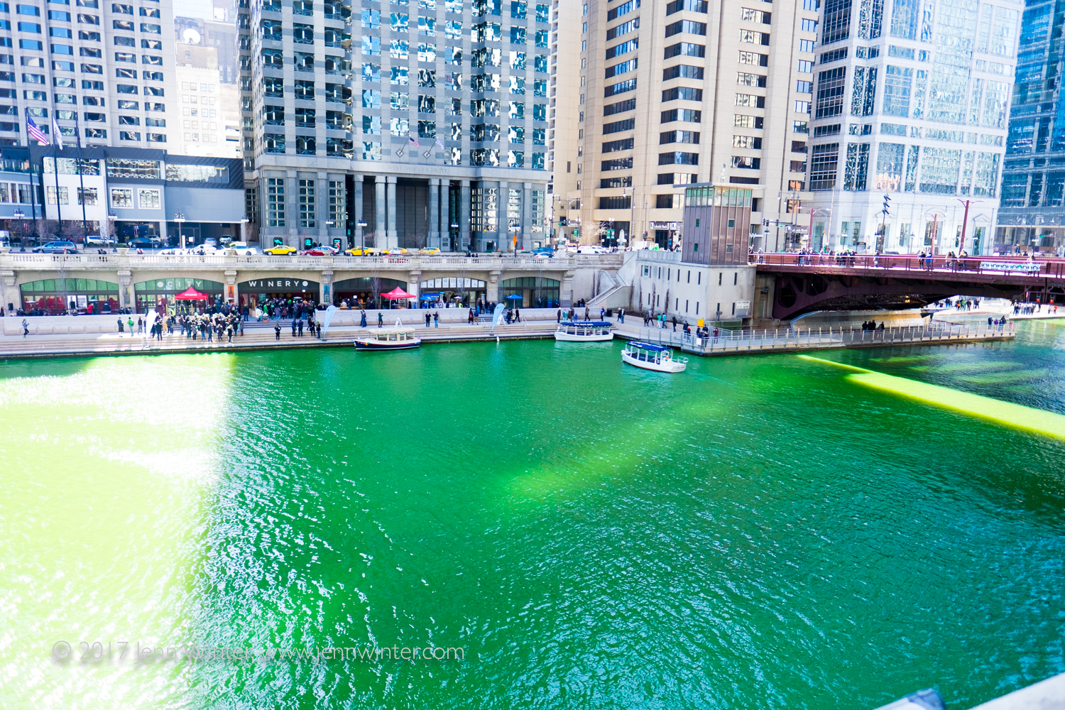 Celebrating St. Patrick's Day on Chicago's Green River