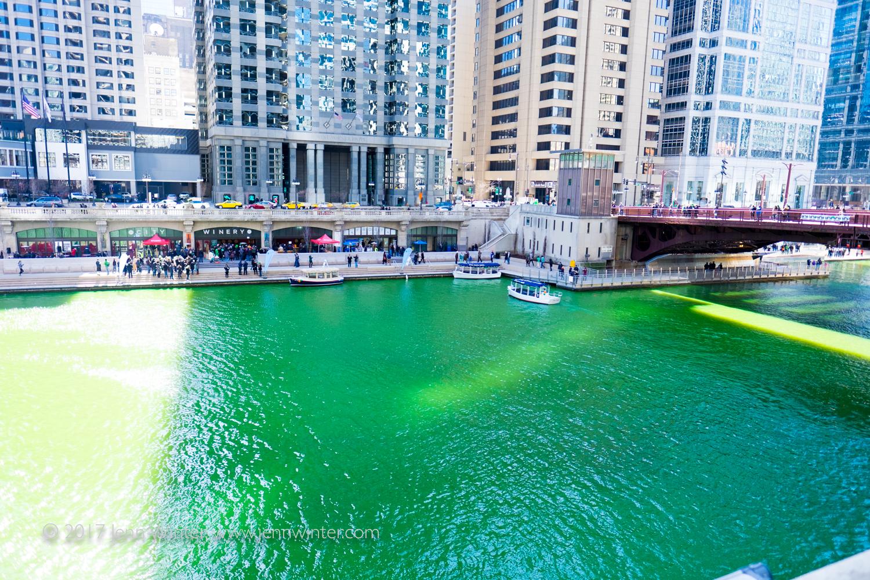 Celebrating St. Patrick's Day on Chicago's Green River