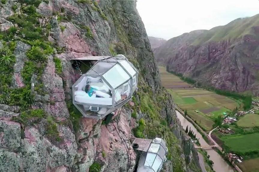 Skylodge adventure suites in Peru, Glass pods, Natura vive skylodge
