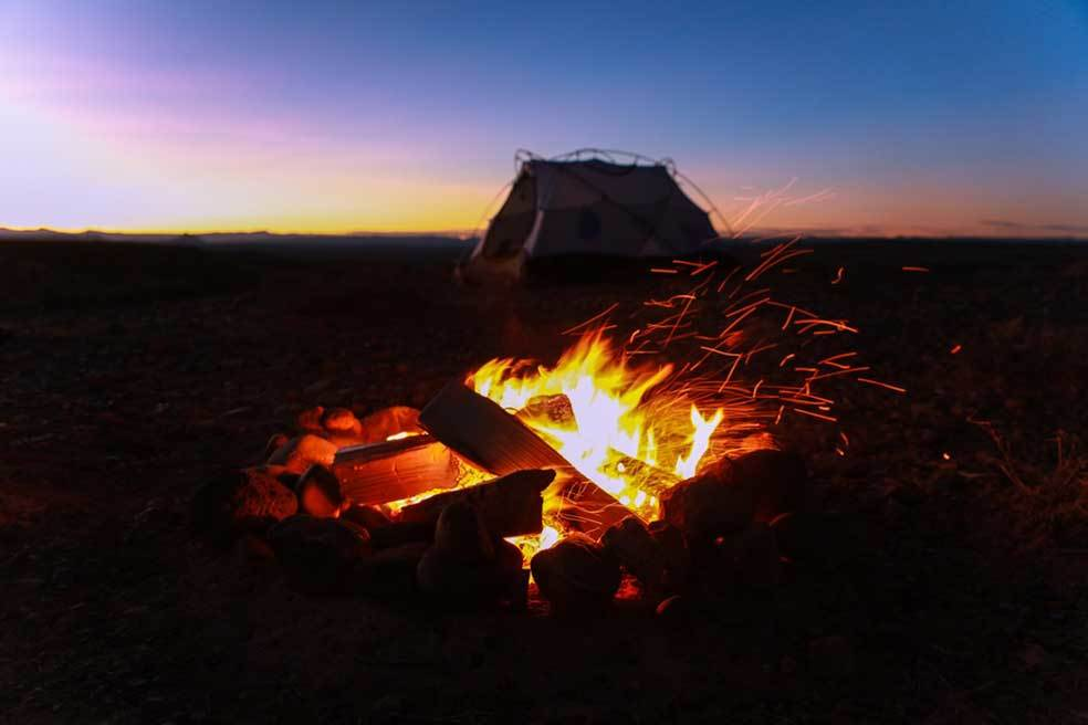 Use Heated Rocks to Heat a Tent