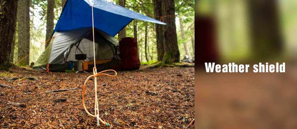 Weather shield tent Vestibule