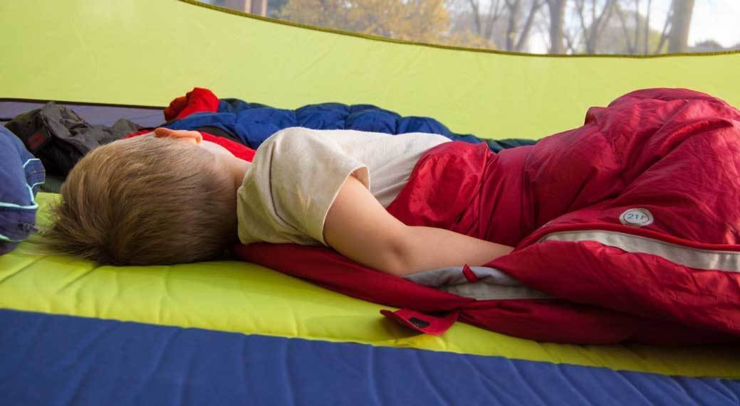sleep of Your Kids in Camping