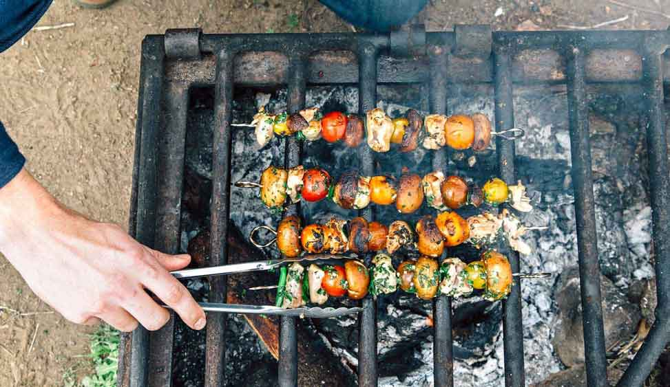Cooking for Veggies Over Campfire