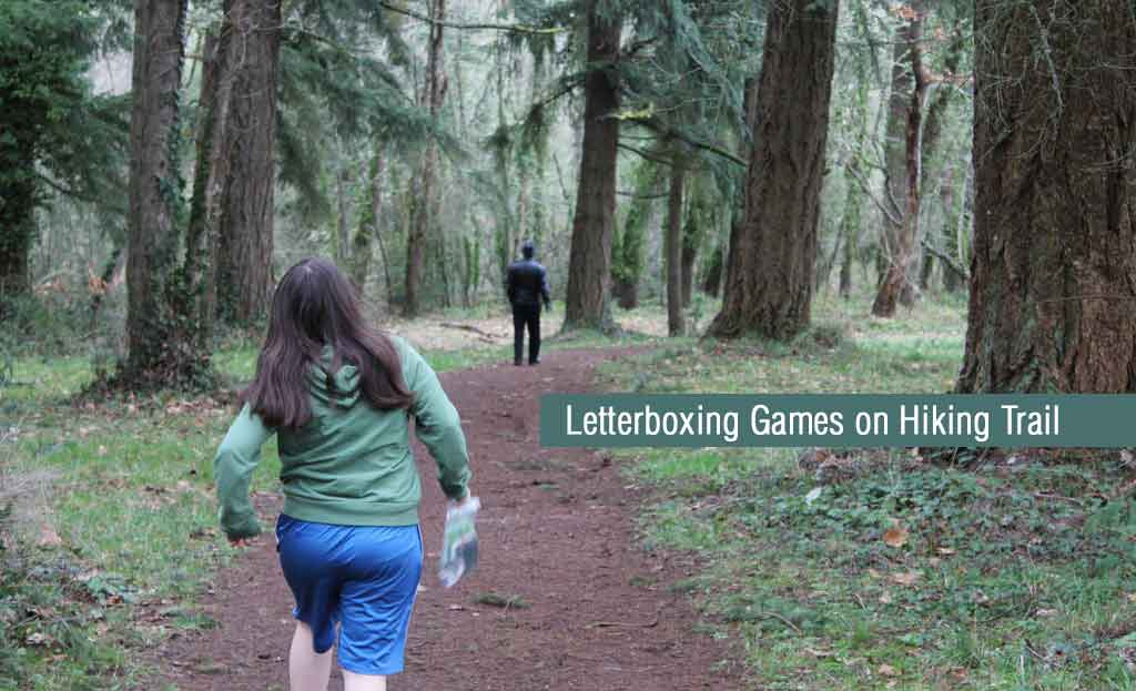 Letterboxing Games on Hiking Trail