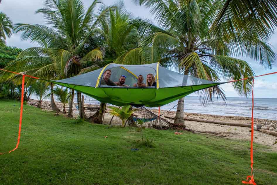 Hammocks have features like tents