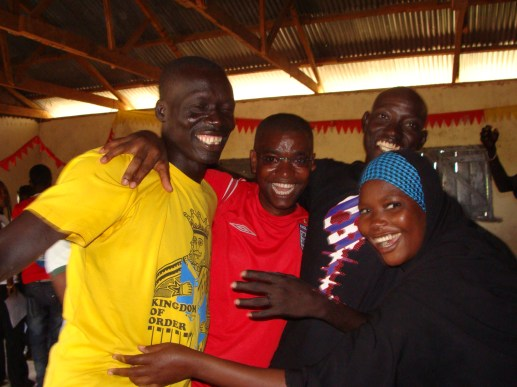 A group of volunteers who were also refugees that lead the youth center in the camp.