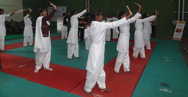 Self defence for visually impaired girls