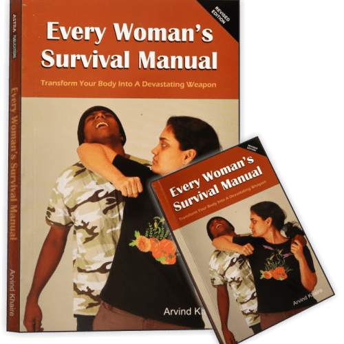 Author Safe-T-Guru Arvind Khaire's Self Defence book for Women - English edition