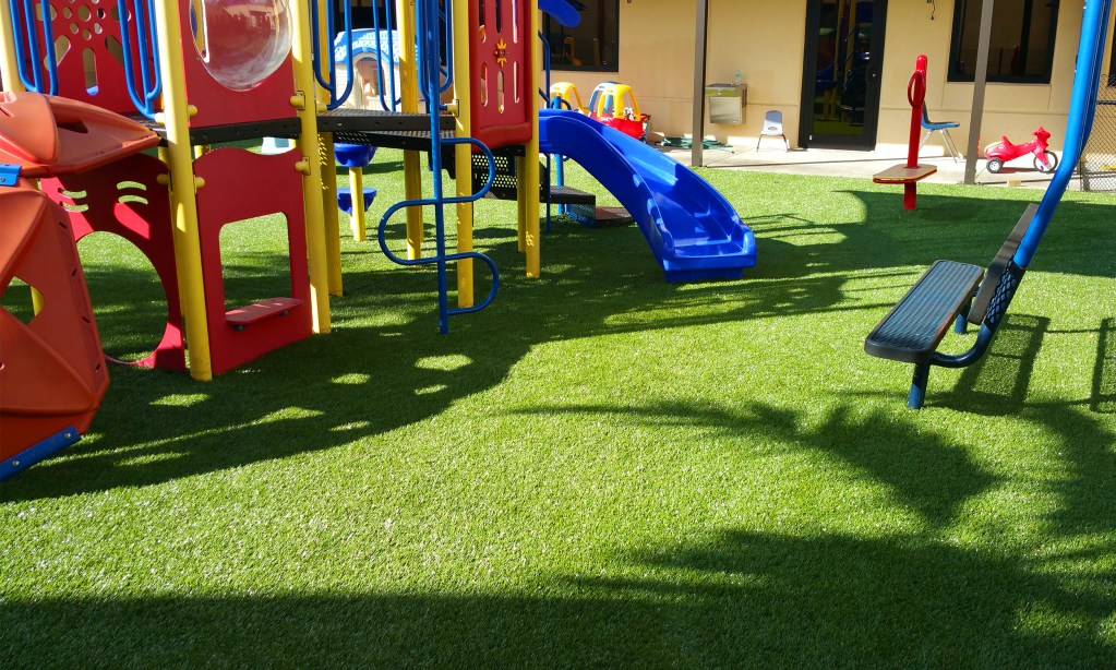 Playground Equipment, Synthetic Grass Turf Installation - Safe4Play