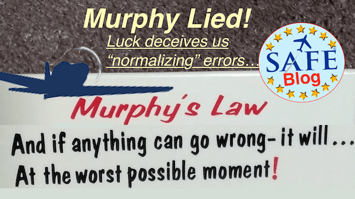 Murphy's Real Law; Luck!