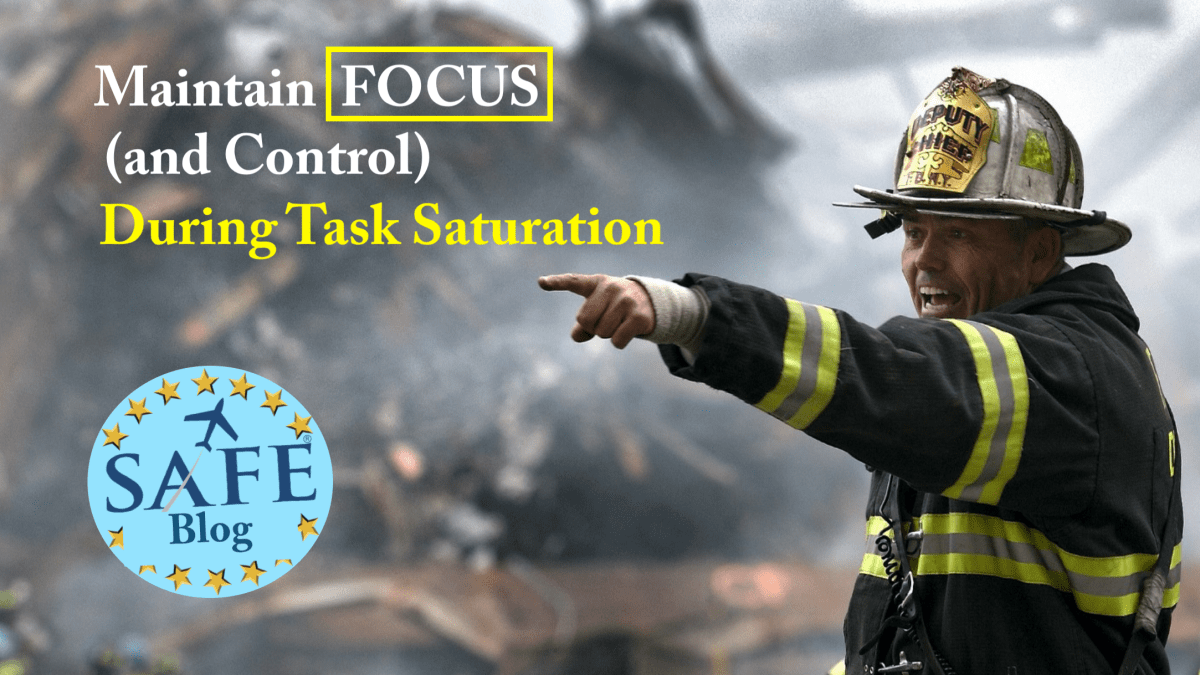 Human Factors: Maintaining Control!