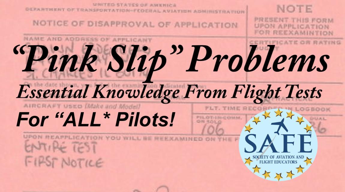"""VFR """"Pink Slip"""" Problems!"""