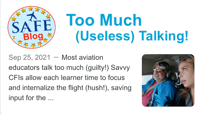 Too Much (Useless) Talking!