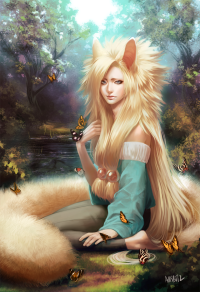 Anime Girl With Fox Tail - Hot Girls Wallpaper