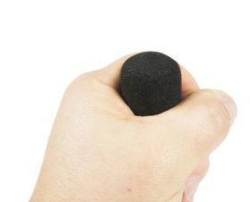GRASP SWITCH A single switch that can be held in the palm of the hand and operated by squeezing the rubber hand grip.