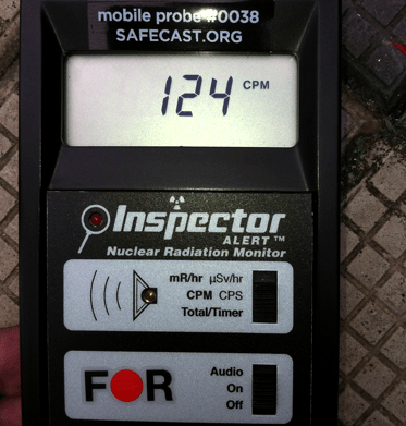 Inspector detecting fairly high CPM levels in Hong Kong