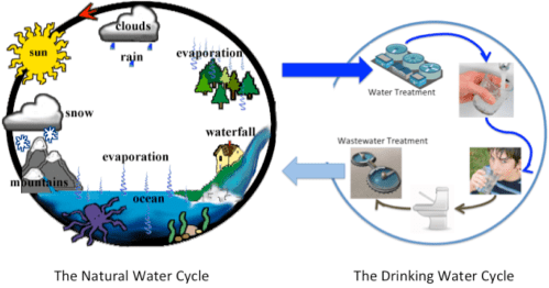 small resolution of the u201cdrinking water cycle u201d is right safedrinkingwaterdotcom diagram of tap water
