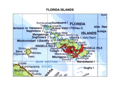 Solomon Islands Exhibition History maps Florida Islands A3