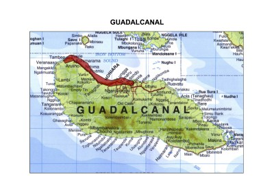 Solomon Islands Exhibition History maps Guadacanal A3