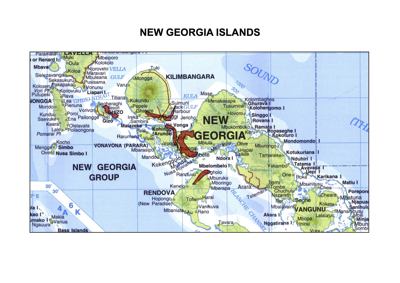 Solomon Islands SafeGround - Solomon islands map