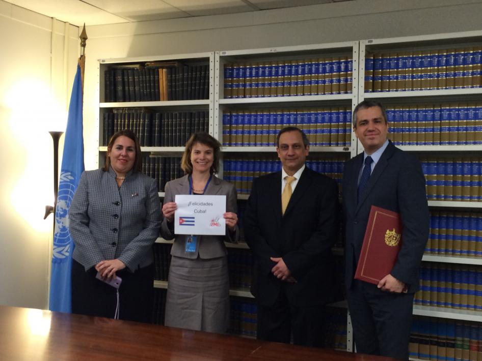 Cuba joins the Convention on Cluster Munitions