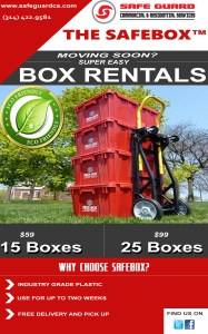 "RENT A  ""SAFE-BOX"" today from Safe Guard Commercial Services for your Commercial and Residential Moving NEEDS."