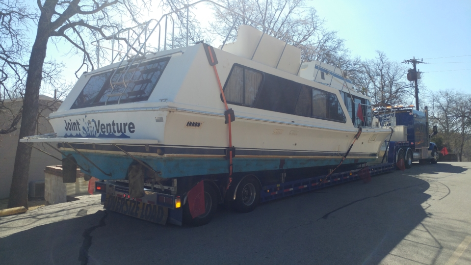 Bluewater cruiser boat transport