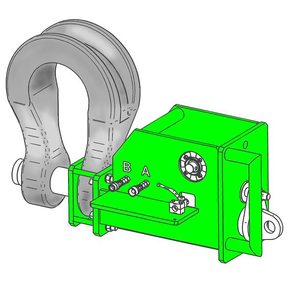 Hydraulic Release Shackles illustrated