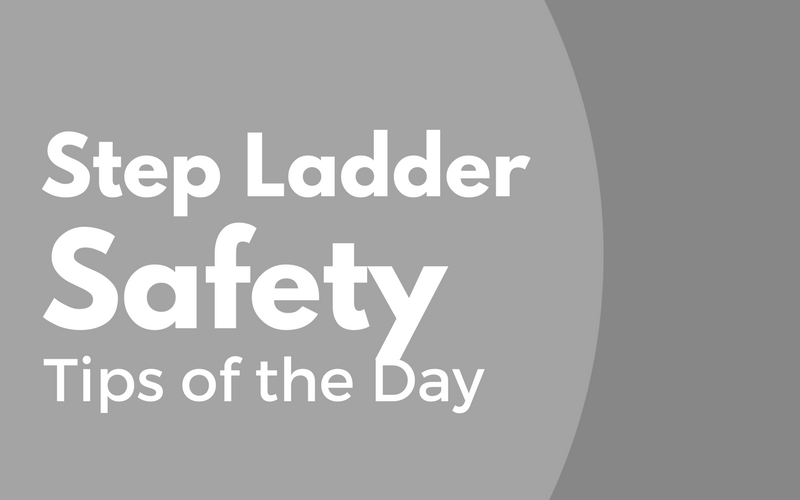 step ladder safety tips