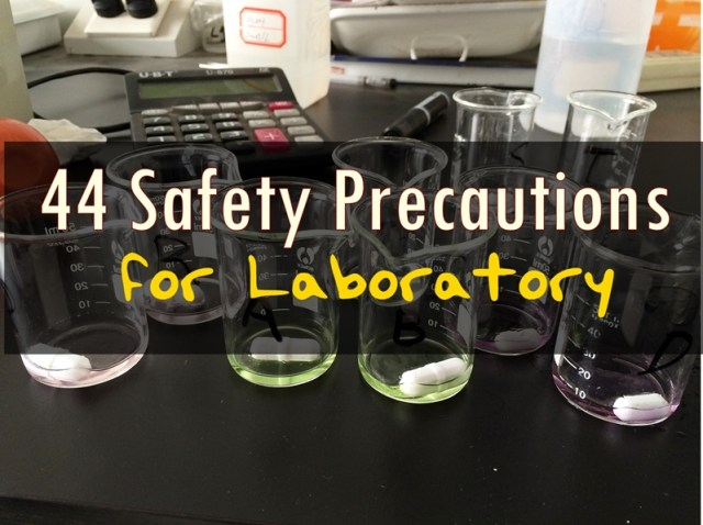 safety precautions inside the laboratory
