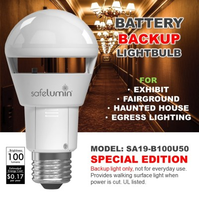 battery backup lightbulb