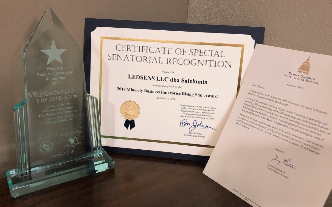 Safelumin Wins Marketplace Governor's Award for Innovative LED Light Bulbs with Battery Backup