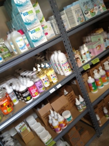 Like a  kid in a candy store, I swooned over all the awesome cleaning and laundry supplies...